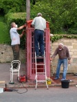 Oswaldkirk telephone kiosk - community at work