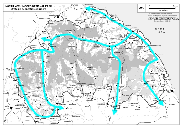 Strategic Connections Map from the North York Moors National Park Management Plan 2012