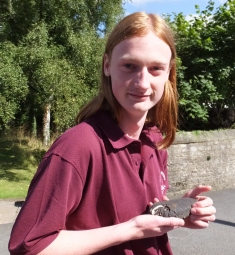 Photos from 2013/14 - Sam - 'In case you're wondering, that's a Pearl Mussel shell I'm holding'