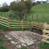Esk tributary - cattle drinking bay improved by laying concrete sleepers - so less sediment created.