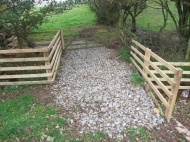 Esk tributary - improvements made to stock crossing point by surfacing and installing cattle drinking point.