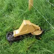 Pasture pump - powered by cattle - method of providing water for stock after river fenced off.