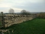 Old Byland Church - restoration of drystone walls and mediaeval tiles