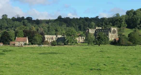 Rievaulx Abbey and Village. Copyright NYMNPA.