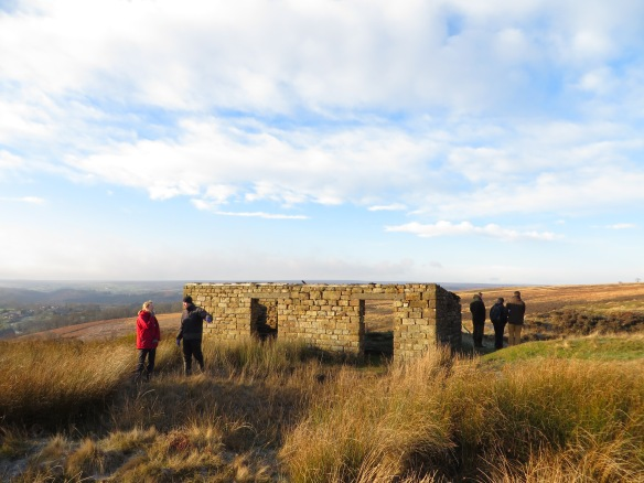 Silhowe January 2015 - remains of miners' hut - by Emily Collins