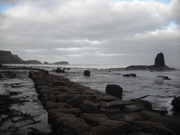 Old harbour at Saltwick Bay used by vessels to transport materials for the Alum industry - John Beech