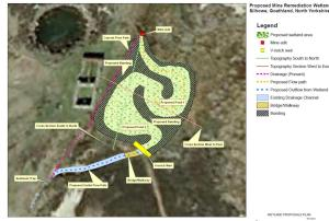 Original plan for remedial wetland creation at Silhowe - subject to change