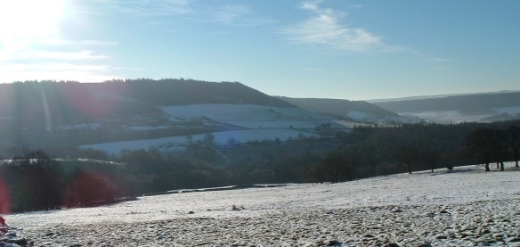 Winter landscape - Lower Bilsdale - NYMNPA
