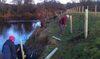 River Esk Volunteers - tree planting at Eskdaleside