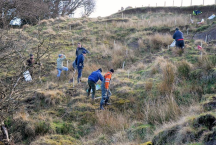 Tree planting with Glaisdale Angling Club volunteers