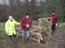 River Esk Volunteers - cattle drinking pump installation