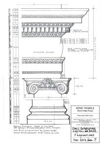 Architectural drawings - Ionic Temple - Peter Gaze Pace Architect