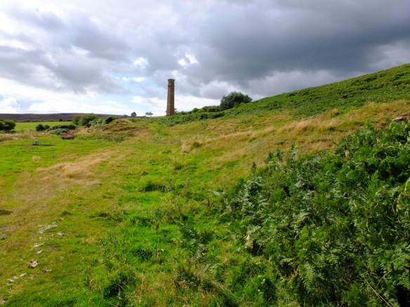 Warren Moor Chimney in the landscape - NYMNPA