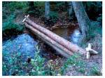 Large woody debris dam secured by angled posts and wire on Pickering Beck - from Forest Research: appendices to Phase 2 Final Report, May 2015