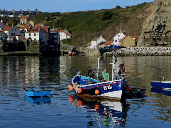 Fishing coble at Staithes - copyright Brian Nicholson, NYMNPA