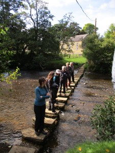 Lealholm stepping stones - Ecologists Workshop 2015 - copyright Kate Bailey, NYMNPA