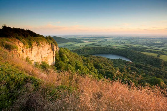 Lake Gormire from Cleveland Way, north of Sutton Bank - copyright Mike Kipling, NYMNPA