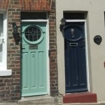 1930s style doors in Staithes - copyright NYMNPA