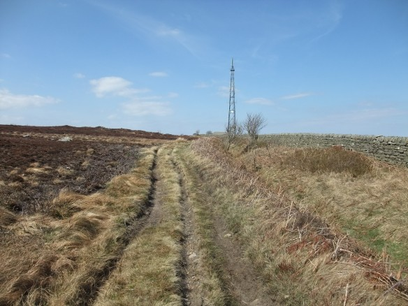 Green Dike - early mediaeval estate boundary associated with Whitby Abbey - public bridleway runs along length of monument. Legal and illegal use causing considerable erosion and vehicle rutting. Copyright NYMNPA