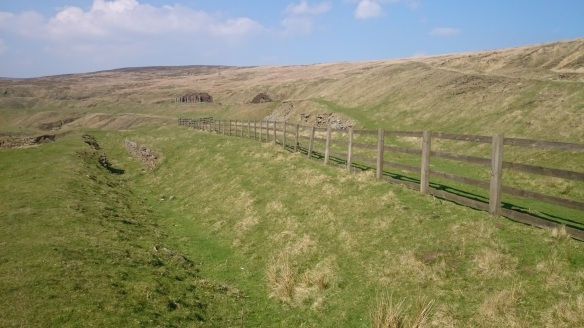 Rosedale East landscape - can see the surviving monuments and earthworks. Copyright NYMNPA.