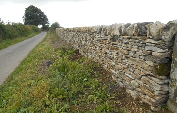 Side view of rebuilt drystone wall - copyright NYMNPA