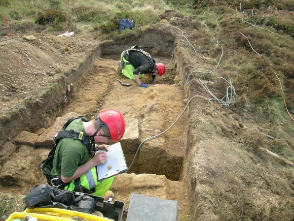Excavation of the building platform at Boulby - copyright ARS Ltd.