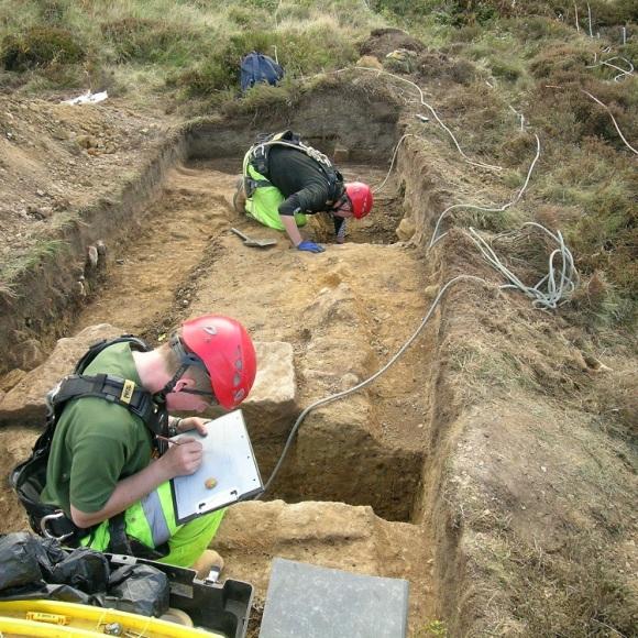 Excavation of the building platform at Boulby - copyright ARS Ltd.