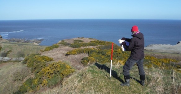 Walkover survey at Sandsend - copyright ARS Ltd.
