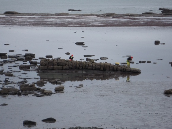 Recording the foreshore slipway at Saltwick - copyright ARS Ltd.