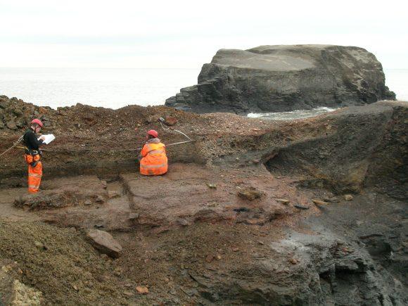 On site at Saltwick Nab - copyright ARS Ltd.