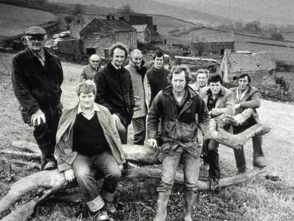 The original Farndale Farm Scheme Farmers - an evocative press photograph from 1990