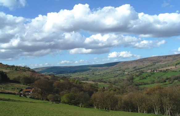Looking north up Farndale - copyright NYMNPA