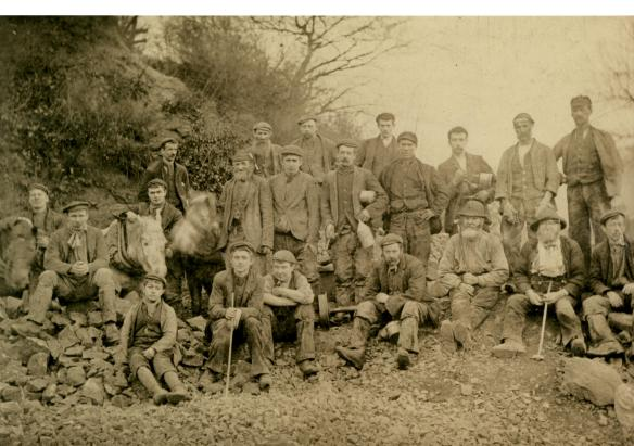 Whinstone workers, Green End c. 1900 - from the Naylor Collection.