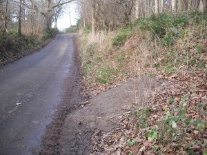 Looking up White Horse Bank, Kilburn - spreading salt heap. Copyright NYMNPA.