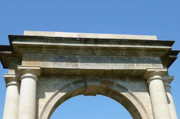 Nelson Gate entablature - copyright NYMNPA