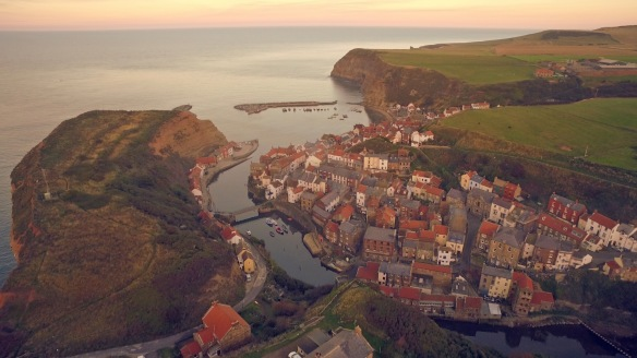 Looking over the roofs at Staithes. Copyright Fridge Productions Ltd.