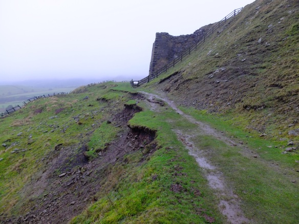 Rosedale East landslip - before start of works. Copyright NYMNPA.