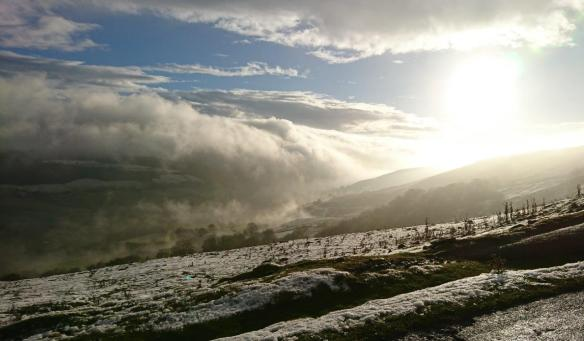 Winter landscape: coming over the top. Copyright - David Renwick, NYMNPA.
