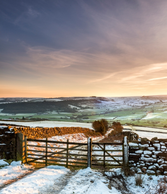 A winter sunset over Danby Dale from Oakley Walls. Copyright NYMNPA.
