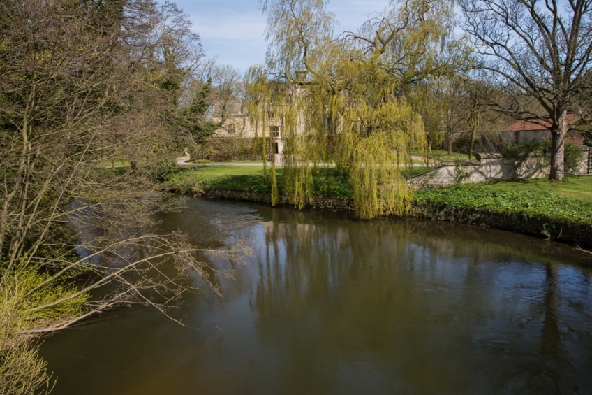 River Rye at Nunnington Hall. Copyright Liz Bassindale, Howardian Hills AONB.