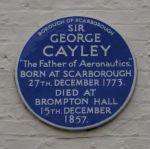 Blue plaque - Brompton, near Scarborough