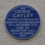 Blue plaque - Brompton, near Scarborough