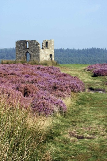 Skelton Tower, former shooting lodge and listed building. Made safe as a ruin, by the National Park Authority in 1978. Copyright NYMNPA.