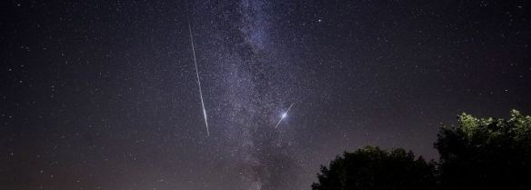 Milky Way and Perseid Meteor Shower Sutton Bank - copyright Russ Norman Photography.