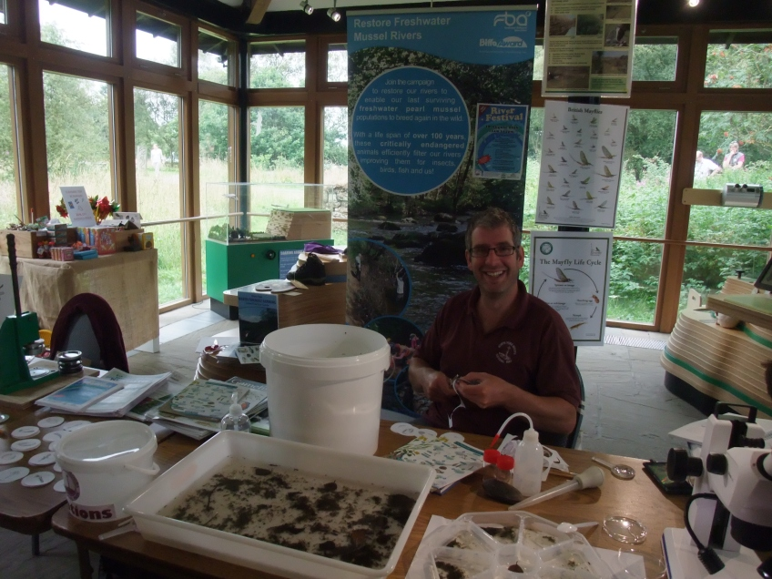 Simon hosting a mini-beast madness event at Sutton Bank in 2016. Copyright NYMNPA.