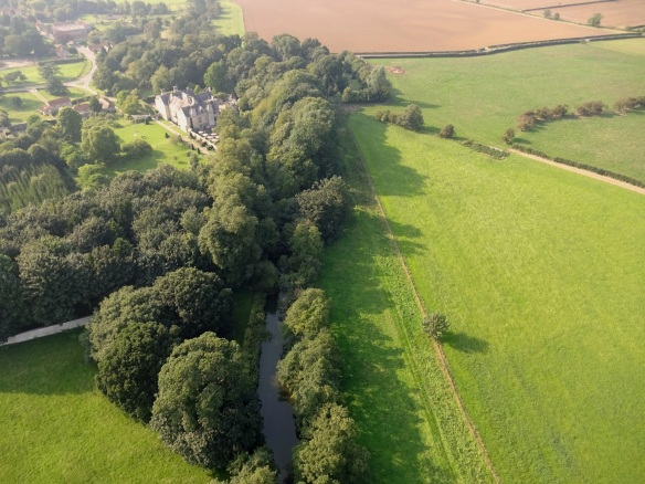 Aerial view of River Rye and Nunnington Hall - taken by NEYEDC.