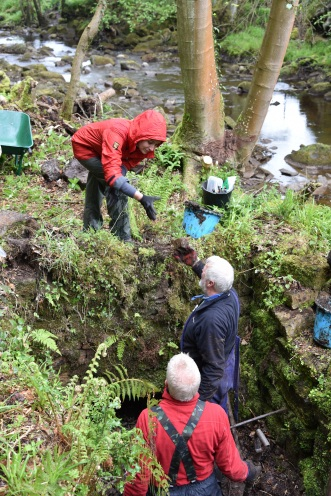 Combs Wood Excavation, May 2017 - site of Beck Hole Ironworks. It was wet but rewarding. Copyright TELoI.