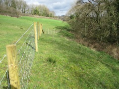 Land Management Agreement - fencing off a buffer strip alongside a watercourse, Egton. Copyright TELoI.