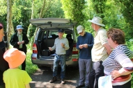 Grosmont Bioblitz - explaining how a bioblitz works. Copyright TELoI.