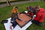 Iron Fest, spring 2017 - learning to be archaeologists. Copyright TELoI.